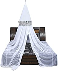 Creative Textiles Polyester White/Black Mosquito Net - Double Bed