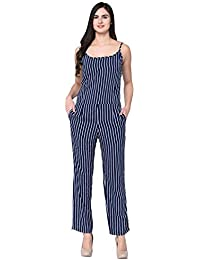 5a32e0f37274 Amazon.in  Crepe - Jumpsuits   Dresses   Jumpsuits  Clothing ...