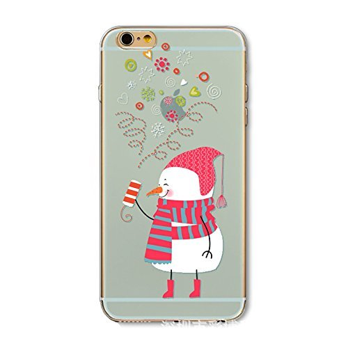 "iPhone 7 Plus TPU Hülle Weihnachten,iPhone 7 Plus Handytasche HandyHülle, BoomTeck Silikon Hülle Transparent Schutzhülle für 5.5"" Apple iPhone 7 Plus/iPhone 8 Plus/iPhone 8 Plus Xmas Tree Santa Costum 16"