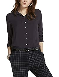 Scotch & Soda Maison Soft Viscose Shirt with Star Buttons, Chemisier Femme