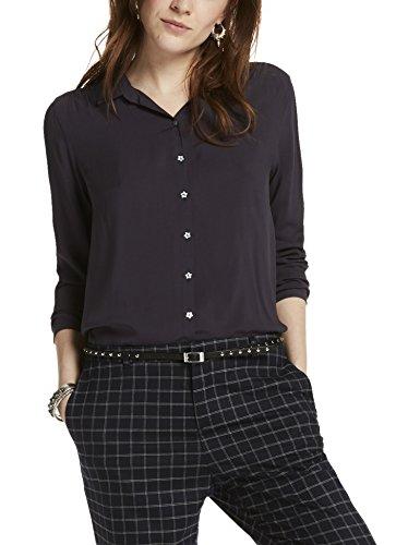 Maison Scotch Soft Viscose Shirt with Star Buttons, Camicia Donna, Blau (Night 02), M
