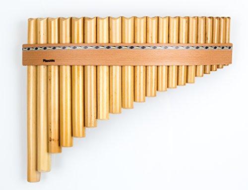 Plaschke Instruments Panflöte mit 20 Rohren/Töne in G-Dur handgefertigt in Südtirol