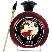Shunga Pintura Corporal, Aroma de Fresas con Champagne, Color Granate - 100 ml