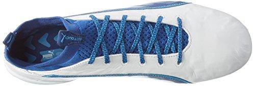 Puma Herren Evotouch 1 Fg Fußballschuhe, 43 EU Weiß (puma white-true blue-blue danube 03)