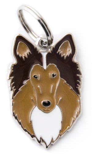 MYFAMILY Plakette Collie platte Hund kostenlosen Gravur Brauch Katze -