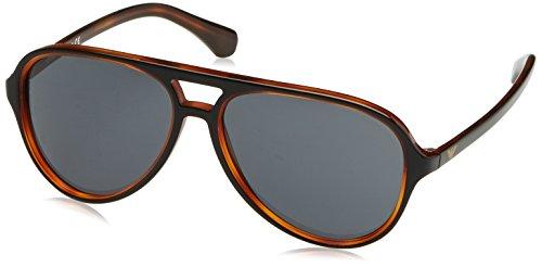 Emporio Armani Herren EA4063 Sonnenbrille, Schwarz (Black/Havana 546487), One size (Herstellergröße: 58)