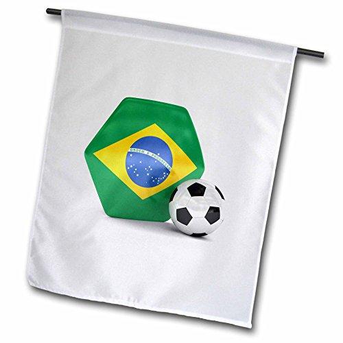 3dRose FL 181893_ 1Brasilien Fußball Garten Flagge, 12von 18