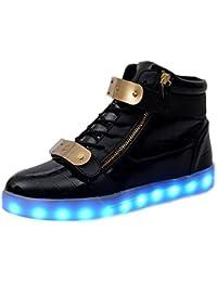fd69361babbe  Neue Version  Light Up Schuhe, padgene® Damen Herren High Top USB Aufladen