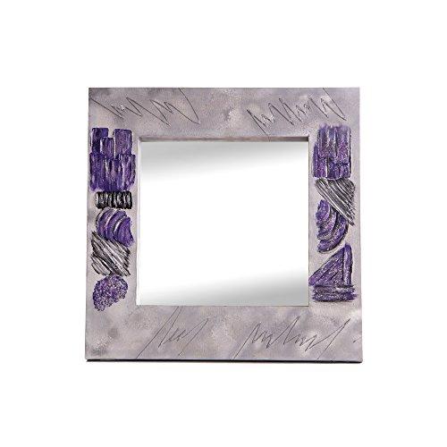 Lohoart L-1119-3 - Espejo Sobre Lienzo Pintado Artesanal