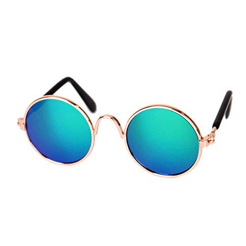 Xigeapg Mode Haustier Katze Hund Sonnenbrille Brillen Cool Eye-Protection Anti-Verschleiss tragen Pflege Fotos Requisiten Haustier Zubehoer Gruen