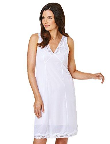 Marlon Damen Miederkleid farbe weiß / schwarz