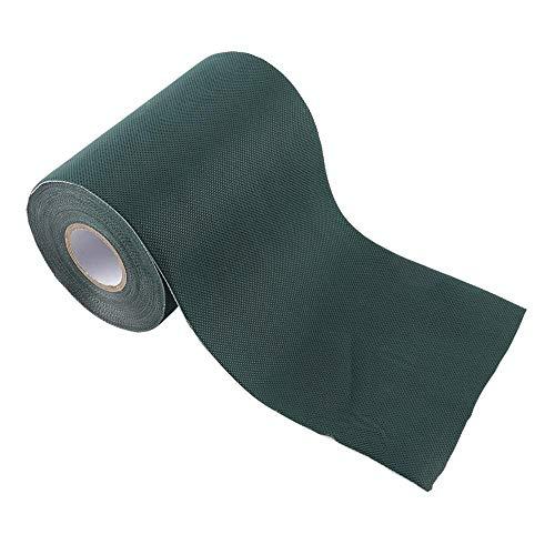 Aufee Künstliches Gras-Band, 15 * 1000cm selbstklebendes Verbindungs-Grün-Band, künstliches Rasen-Nähen, wasserdicht, wetterfest und feuchtigkeitsbeständig