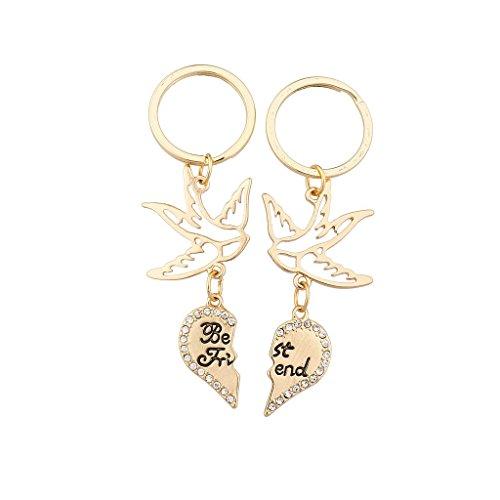 lux-accesorios-color-dorado-dove-mejores-amigos-llavero-set-2pc