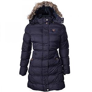 df5715317b5 Womens Brave Soul Long Fur Trimmed Hooded Padded Puffer Parka Winter Jacket  Coat