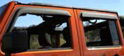 Jeep Wrangler JK 4tür Fenster Schild (2007-2014) (Jeep Wrangler Rugged Ridge)