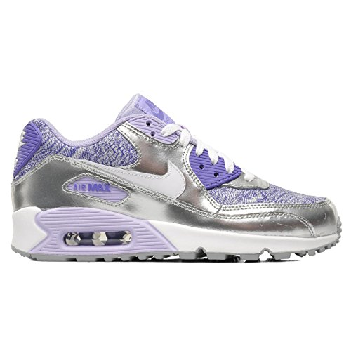 Nike Girls' AIR MAX 90 2007 (GS) Low-Top Sneakers Purple Size: 5.5...