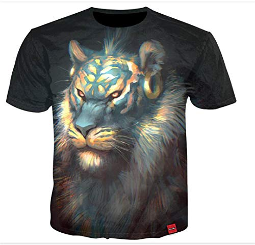 3D Shirt Mode Lion 3D Print Tees Cool Sommer Beiläufige Lose Tops Kurz Seeve Oansatz Hip Hop T-Shirts 27 Asian Size XXXXXL -