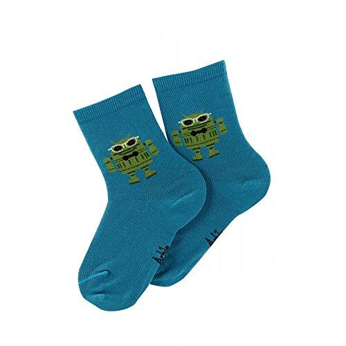 Mi-chaussettes motif Androïde en coton