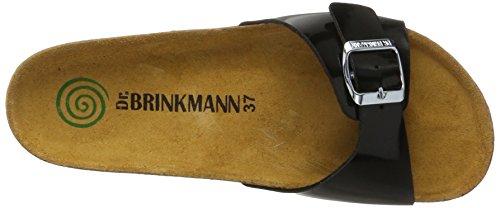 Dr. Brinkmann 701101, Mules Femme Schwarz (Schwarz)