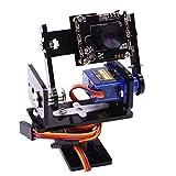 F Fityle PTZ HD-Kamera 360 ° Drehbar Winkel Roboter-intelligente Auto-Kamera Kit Für Raspberry Pi 3B / 3B +