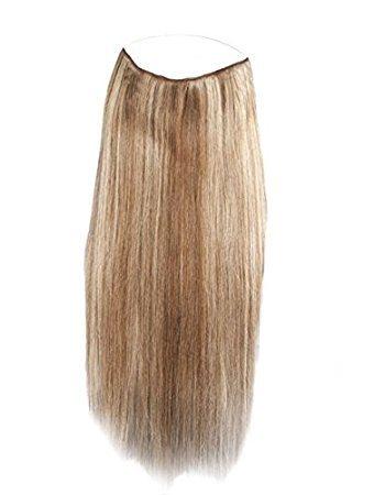 45-50 cm 100% capelli umani clip in extension per capelli con filo invisibile regolabile veloci e facili extension per capelli 100g misto biondo scuro e biondo platino #p18/613