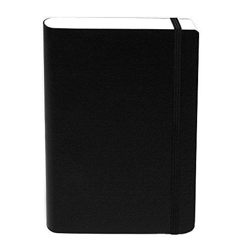 basicos-mr-10402-flexibel-leder-notizbuch-4-300-blatt-kariert-mit-gummi-schwarz