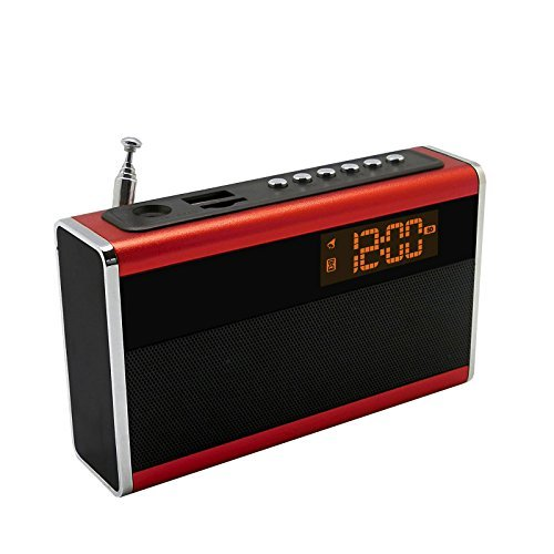 Supersonic Portable Rechargeable Speaker with Alarm Clock & Fm Radio