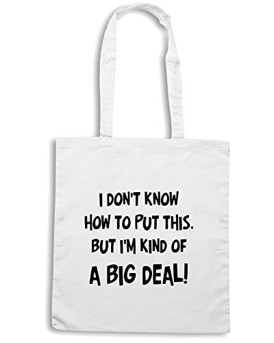 T-Shirtshock - Borsa Shopping OLDENG00003 a big deal Bianco