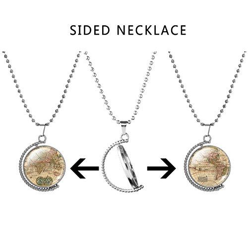 monde-retro-carte-temps-pierre-gemme-pendentif-collier-femme-plaque-argent