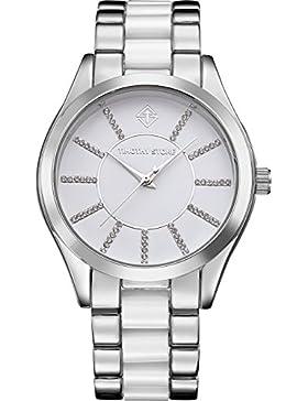 Timothy Stone Damen-Armbanduhr CHARME BICOLOR Analog Quarz edelstahl-armband Farbe Silber damenuhr Entwurf