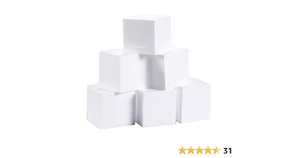 Juvale Lot de 6 moules rectangulaires en mousse pour loisirs cr/éatifs 30,5 x 15,2 x 2,5 cm