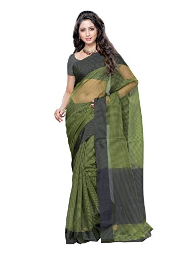 Mimosa Cotton Silk Saree(3032-AP-7000-OLIVEBLK)