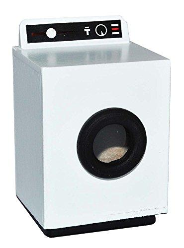 Miniatur Waschmaschine weiß - Bad Maßstab 1:12 - Holz - für Badezimmer Zubehör Nostalgie Puppenstube Mini Frontlader