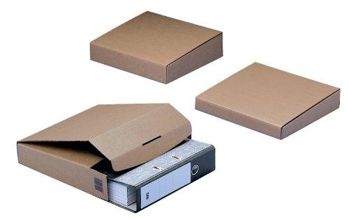 NIPS 143380114 Ordner-Versandbox 50 Basic mit Steckverschluss, 64/42 x 298 x 325 mm, 10-er Packung, braun (Wellpappe-versandboxen)