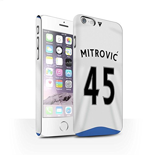 Offiziell Newcastle United FC Hülle / Matte Snap-On Case für Apple iPhone 6S / Pack 29pcs Muster / NUFC Trikot Home 15/16 Kollektion Mitrovic