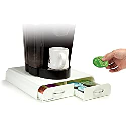 Mind Reader 'Anchor' für 32 Tassimo T-Discs, 20 Vertuoline Nespresso Kapseln, 20 Keurig Vue Packs - White Kaffee Pod Storage Schublade