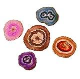 Purpledip Achat Scheiben–Set von 5Sortiert Poliert Geoden, Güteklasse A 2,5–3,8cm (11355)