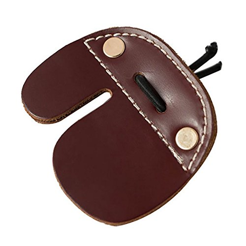 myarmor-archery-shooting-finger-tab-guard-for-recurve-bows-hunting-finger-protector-brown