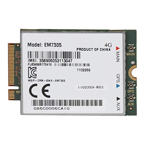 Wendry 4G Netzwerkkarte,Mini Gigabit Netzwerkkarte LAN Card,Wireless EM7305 LTE NGFF Interface Netzwerkkarte,Support GPS WCDMA 4G LTE Networks, NGFF Interface Wifi-gprs-gps