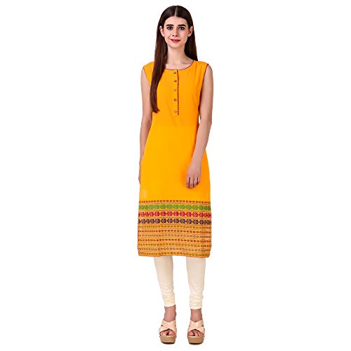 Sreshee Women's Premium Cotton Straight Kurti (Four Colour Options)