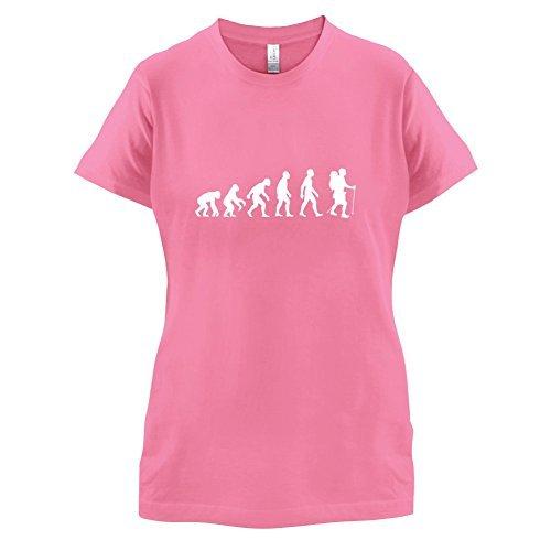 Evolution of Man - Wandern - Damen T-Shirt - 11 Farben Magenta