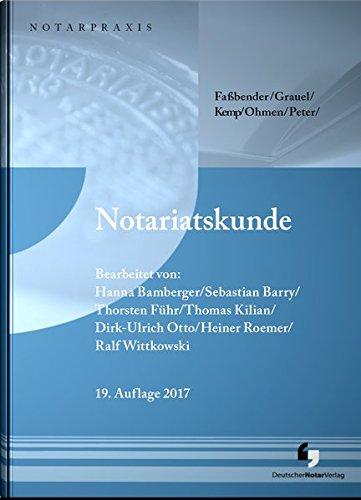 Notariatskunde (NotarPraxis)