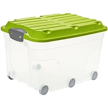 Kiste Mit Rollen rotho 1766605519 aufbewahrungs kiste roller 6 mit deckel und 6