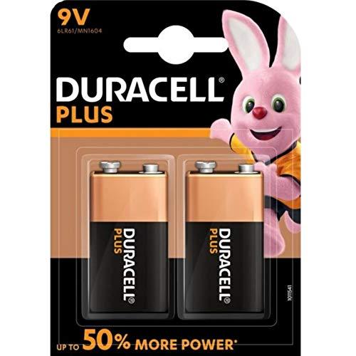 Duracell Batterie Plus 9Volt Block (6LR61) im 2er Pack
