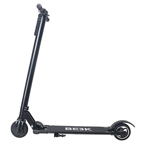 Elektroroller BEBK mit Samsung 4.4 Ah Batterie, Höchstgeschwindigkeit bis 23 km/h, Faltbar Licht Elektro Scooter für Jugendliche und Erwachsene (schwarz) - 2