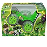 J K INTERNATIONAL 3D Wireless Rechargeable Ben 10 Stunt Car With Remote Control (Green)