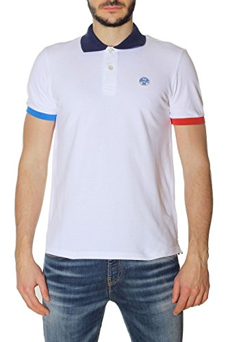 North Sails Herren Poloshirt Bianco (Bianco 0101)