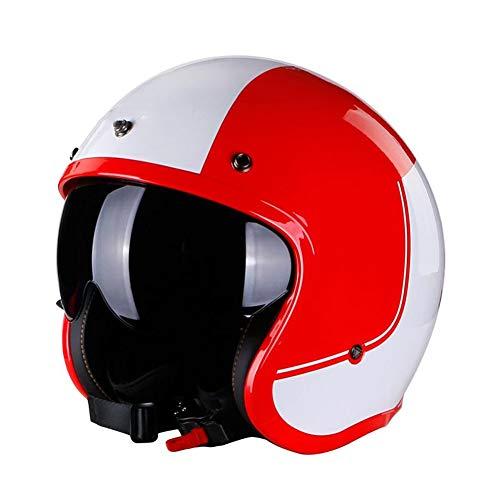 WWJJE (Rot fluoreszierend) Integral-Motorradhelm ECEFlip Up Motorradhelm, Offroad-Rennen, Motocross, für Honda/Yamaha/Suzuki/Kawasaki, Bandit Helm.-XXXXL