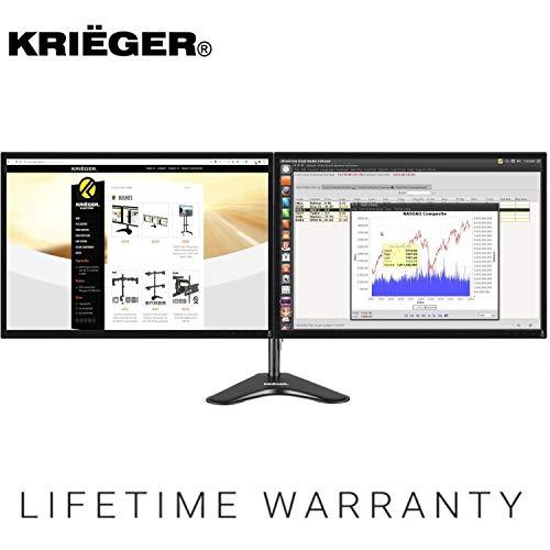 """KRIëGER KL2327N - Brazo articulado para Dos Pantallas LCD, OLED, 4 K, para Ordenador, 17, 19, 20, 22, 23, 24, 27"""", VESA"""