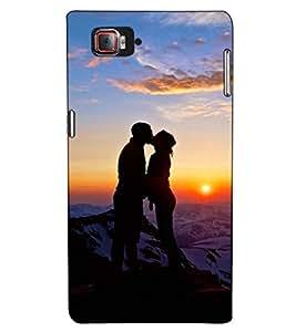 Fuson Designer Back Case Cover for Lenovo Vibe Z2 Pro :: Lenovo K920 :: Lenovo Vibe Z2 Pro K920 (Kissing couple theme)
